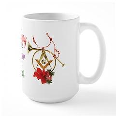 Happy Masonic New Year Large Mug