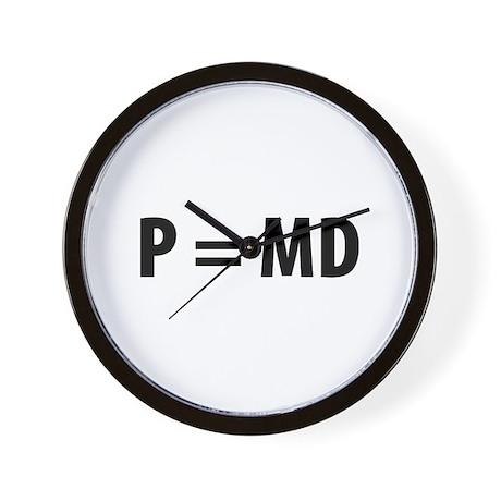 Med Student P=MD Wall Clock