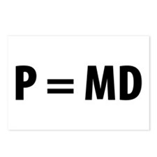 Med Student P=MD Postcards (Package of 8)