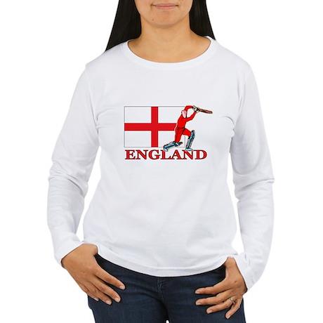 English Cricket Player Women's Long Sleeve T-Shirt