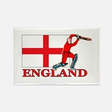 English Cricket Player Rectangle Magnet (10 pack)