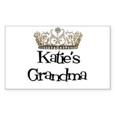 Katie's Grandma Rectangle Decal