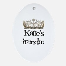 Katie's Grandma Oval Ornament