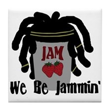 Riyah-Li Designs We Be Jammin Tile Coaster