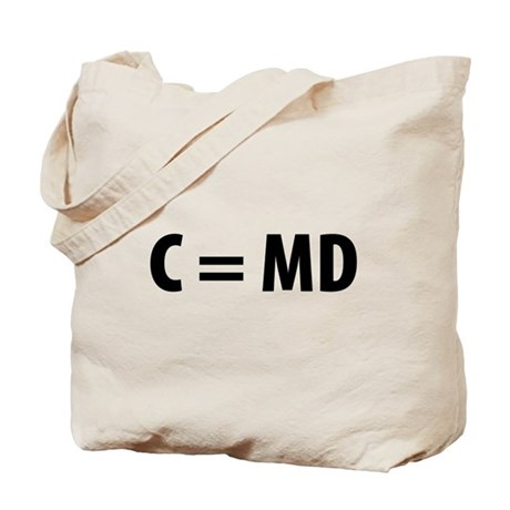 Med Student C=MD Tote Bag