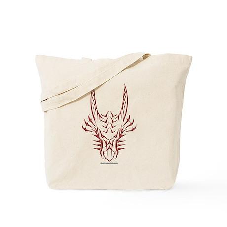 Red Dragon Head Tote Bag