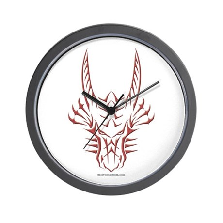 Red Dragon Head Wall Clock