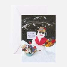 Cute Think snow Greeting Card