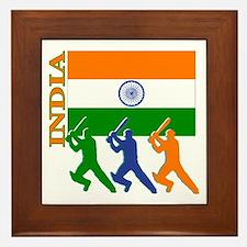 India Cricket Framed Tile