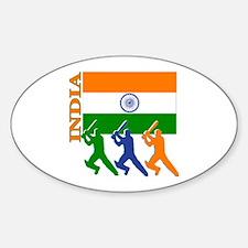 India Cricket Oval Sticker (10 pk)