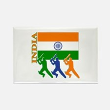 India Cricket Rectangle Magnet