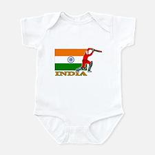 India Cricket Player Infant Bodysuit