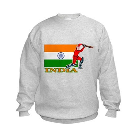 India Cricket Player Kids Sweatshirt