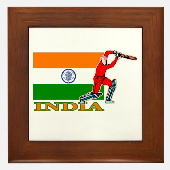 India Cricket Player Framed Tile
