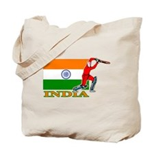 India Cricket Player Tote Bag