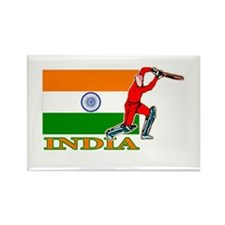 India Cricket Player Rectangle Magnet