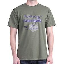 FlipFlops & Combat Boots = Love T-Shirt