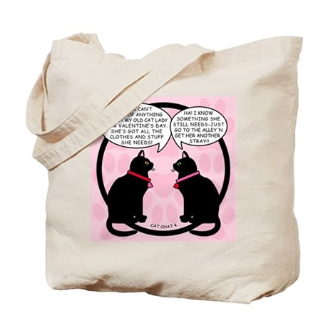 CAT CHAT 4-V DAY Tote Bag