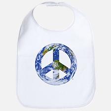 World Peace Sign East Bib