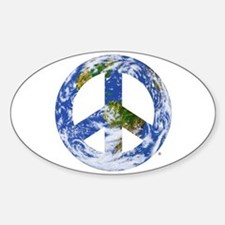 World Peace Sign East Oval Decal