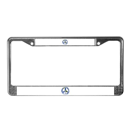 World Peace Sign East License Plate Frame