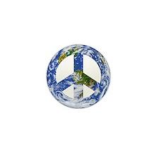 World Peace Sign East Mini Button