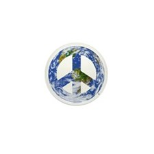 World Peace Sign East Mini Button (10 pack)