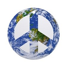 World Peace Sign East Ornament (Round)