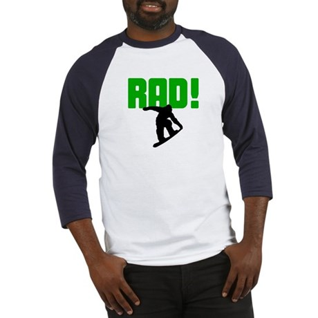 Rad Snowboarder Baseball Jersey