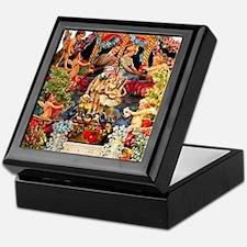 Victorian Valentine Velvet Lined Tile Jewel Box