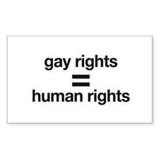 gay rights = human rights Rectangle Sticker 50 pk