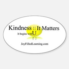 Kindness It Matters Oval Decal