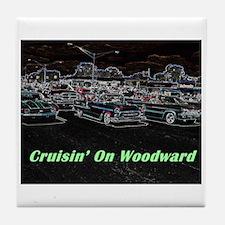 """""""Cruisin' On Woodward"""" Tile Coaster"""