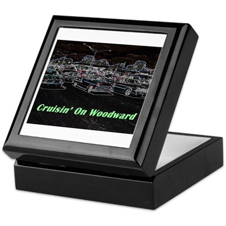 """Cruisin' On Woodward"" Keepsake Box"