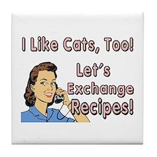 I Like Cats Recipe Tile Coaster