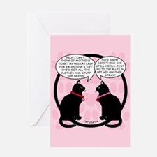 CAT CHAT 4 Blank Greeting Card