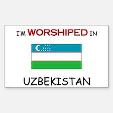 I'm Worshiped In UZBEKISTAN Rectangle Decal