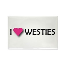 I LUV WESTIES Rectangle Magnet