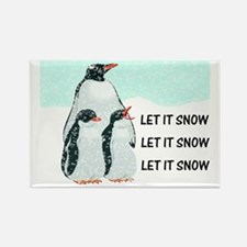 Let It Snow, Penguins Rectangle Magnet