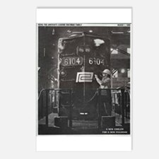 Penn Central Railroad 1968 Postcards (Package of 8
