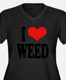 I Love Weed Plus Size T-Shirt