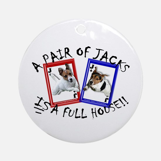 """Jack Russell """"Full House"""" Ornament (Round)"""