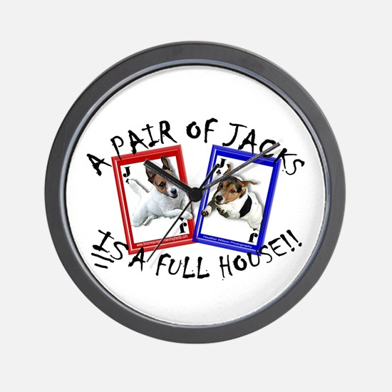 """Jack Russell """"Full House"""" Wall Clock"""