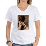 Woman Women's V-Neck T-Shirt