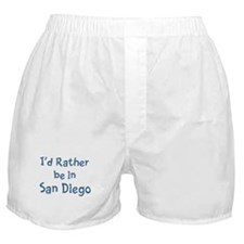 Rather be in San Diego Boxer Shorts