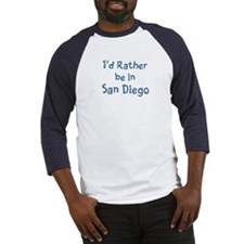 Rather be in San Diego Baseball Jersey