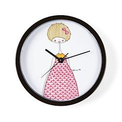 The pink dress Wall Clock