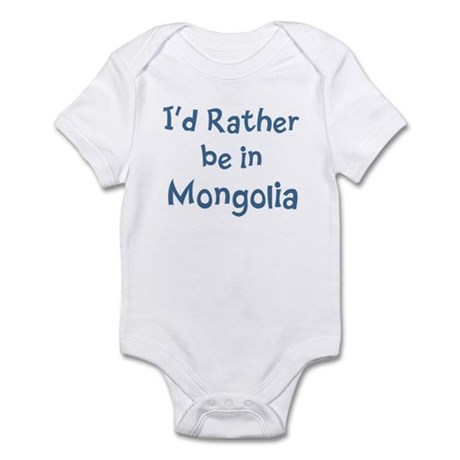 Rather be in Mongolia Infant Bodysuit