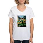 Buuilding Landscape Women's V-Neck T-Shirt