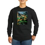 Buuilding Landscape Long Sleeve Dark T-Shirt